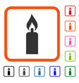 candle framed icon vector image vector image