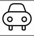 car rental transport travel vehicle icon vector image vector image