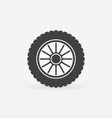 car wheel creative icon vector image vector image