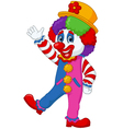 Cartoon clown waving hand vector image