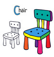 chair coloring book page vector image vector image