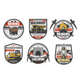 coal mine mining industry icons vector image
