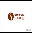 coffee logo for a coffee shop coffee beans logo vector image vector image