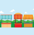 collection of street shop landscape vector image vector image