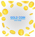 creative of 3d gold coins vector image vector image