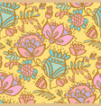 cute pale color folklore floral seamless pattern vector image vector image