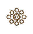 decorative-floral-coffee-2 vector image