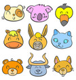 doodle of animal colorful cute style art vector image vector image
