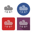 dotted icon rain with snow in four variants vector image vector image