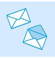 Envelope Icon Simple Blue vector image vector image