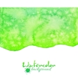 Green watercolor background vector image vector image