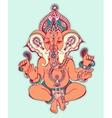 hindu lord ganesha ornate sketch drawing tattoo vector image vector image