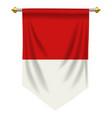 indonesia or monaco pennant vector image vector image