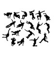 jumping sport vector image vector image