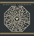 maze enigma with minotaur icon vector image