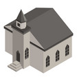 medieval church icon isometric style vector image
