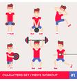 men workout set1 vector image