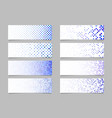 modern abstract dot pattern banner background vector image vector image
