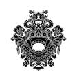 Mythological gods head indonesian traditional art vector image vector image