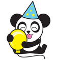Party Panda vector image