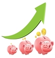 Pig piggy bank Interest money vector image