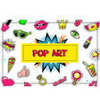pop art fashion stickers concept vector image