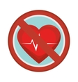 prohibited sign heart care isolated icon vector image vector image