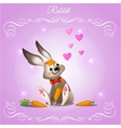 Rabbit boy on a purple background vector image vector image