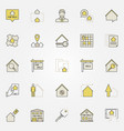 real estate colorful icons vector image vector image