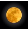 realistic shining full moon in dark blue sky vector image vector image