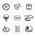 Rescue operation icons set vector image vector image