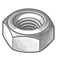 Screw nut vector image vector image