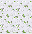 seamless pattern of plum in cartoon style vector image vector image