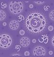 seamless pattern with sahasrara chakra vector image