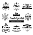 Set of black bakery logos vector image vector image