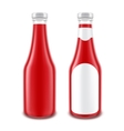 Set of Blank Glass Red Tomato Ketchup Bottle vector image vector image