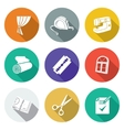 Sewing curtains service Icons Set vector image vector image