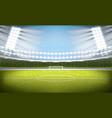soccer stadium football arena vector image vector image