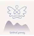 symbol of yoga meditation spirituality vector image vector image