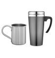 thermo tumbler mockup travel mug metal coffee cup vector image vector image