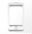 transparent mobile vector image