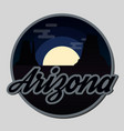 travel arizona destination retro round icon vector image
