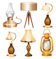 Vintage design of lamps vector image