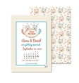 vintage wedding invitations with cute cats vector image vector image