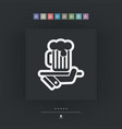waiter serving beer icon vector image