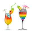 welcome drink vector image
