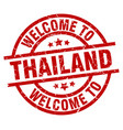 welcome to thailand red stamp vector image vector image