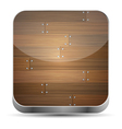 Wooden texture icons vector image vector image