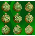 Christmas bauble collection vector image