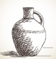 ceramic jug vector image
